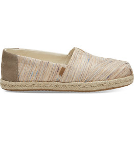 TOMS WOMENS CLASSIC ROPE TRIM SHOE- BIRCH