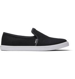 TOMS WOMENS CLEMENTE HERITAGE CANVAS- BLACK