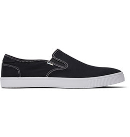 TOMS MENS BAJA BLACK CANVAS SHOE