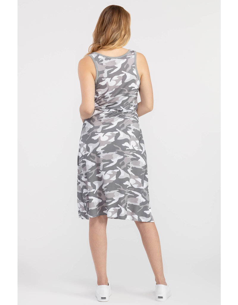 TRIBAL CAMO MIDI TANK DRESS