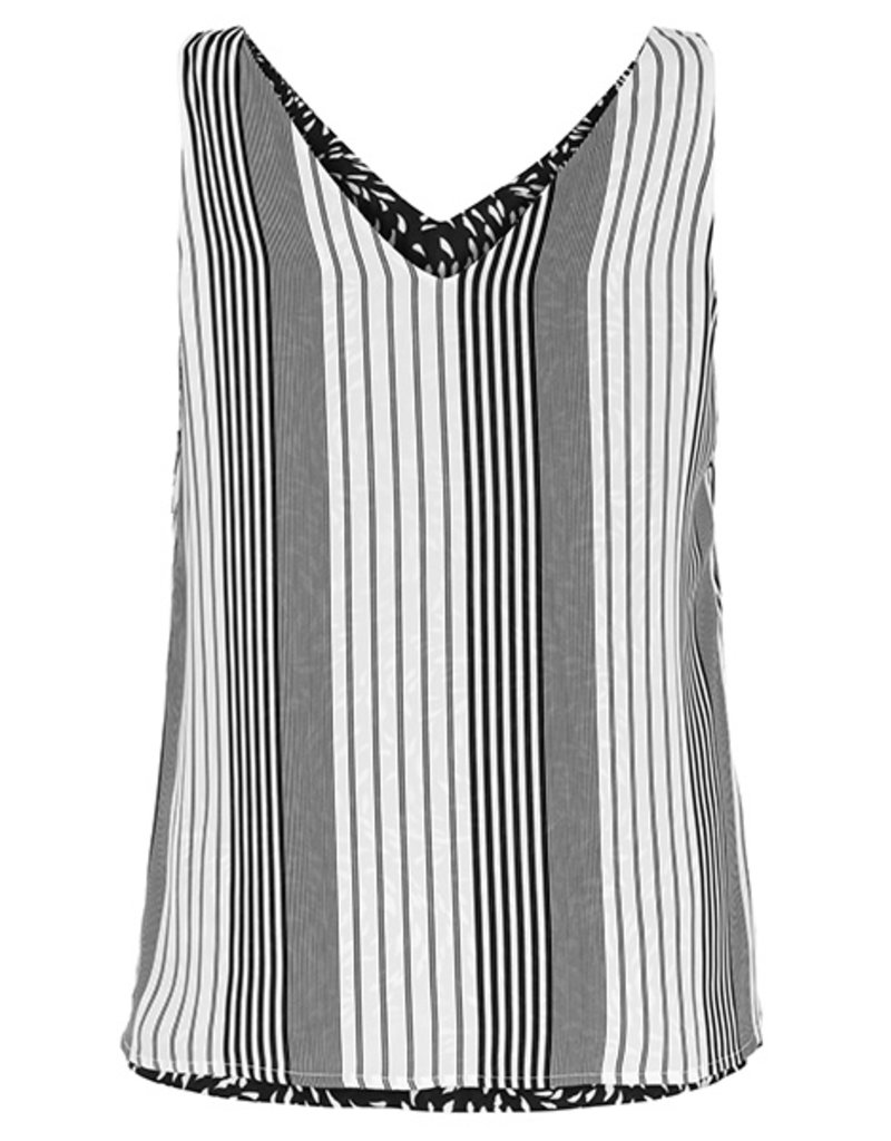 TRIBAL REVERSIBLE SLVLESS CREPE TOP