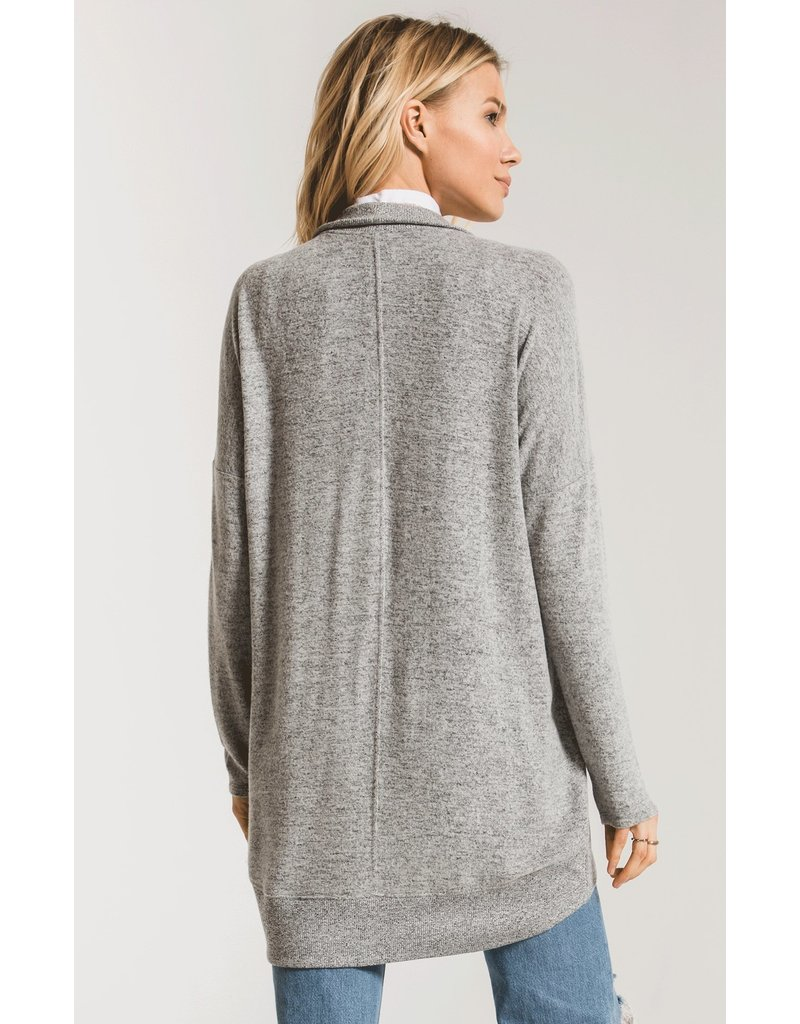Z SUPPLY COCOON HEATHER GREY CARDIGAN