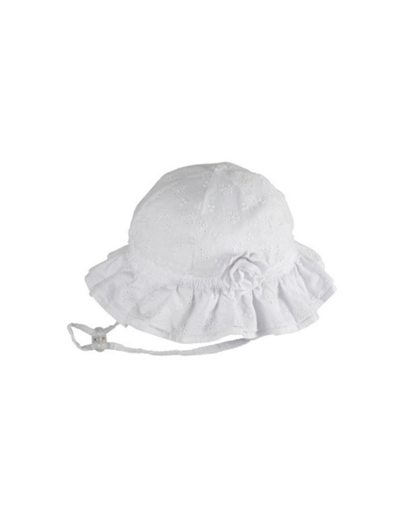 KOORINGAL BABY GIRLS WHITE AGAPANTHA HAT