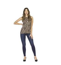 PAPILLON LEOPARD PRINT SLVLESS TOP