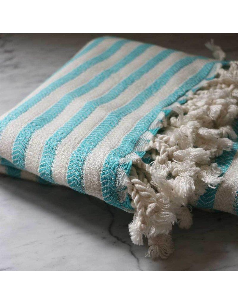 ZEBRA BAMBOO TURKISH TOWEL -BLUE