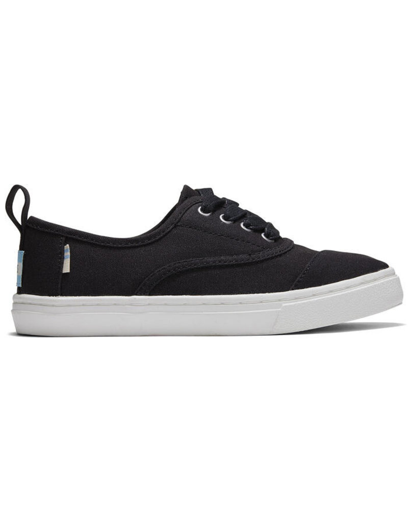 TOMS YOUTH CANVAS CUPSOLE SNEAKER -BLACK