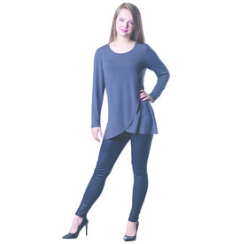 PAPA GREY SILVER STUDDED TUNIC TOP