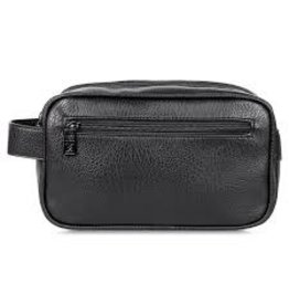 KARLA HANSON MENS TOILETRY BAG - BLACK