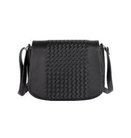 KARLA HANSON TANYA CROSSBODY SADDLE BAG - BLACK