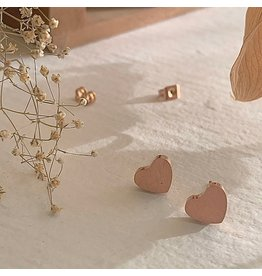 PIKA & BEAR TOTAL ECLIPSE OF HEART EARRINGS - ROSE GOLD