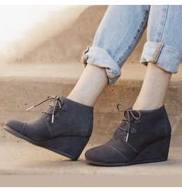 TOMS WOMENS KALA SUEDE WEDGE BOOTIE