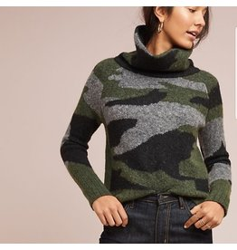 RD STYLE CAMO COWL NECK SWEATER