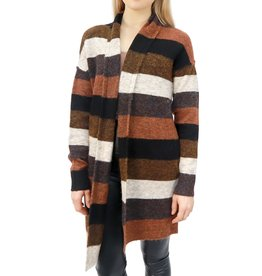 RD STYLE EARTH TONE STRIPED CARDIGAN