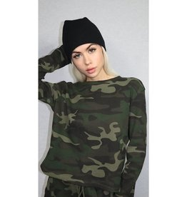 RD STYLE WAFFLE KNIT CAMO TOP