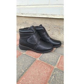 ELSEEN VELCRO BOOT - BLACK