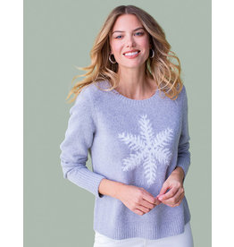 TRIBAL SNOWFLAKE GREY SWEATER