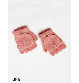 GRAND INT'L CONVERTIBLE MITTS w/BUTTON