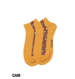 GRAND INT'L WOMENS LEOPARD PRINT ANKLE SOCKS