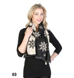 GRAND INT'L REVERSIBLE SNOWFLAKE SCARF