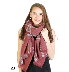 GRAND INT'L SOFT TOUCH PLAID SCARF
