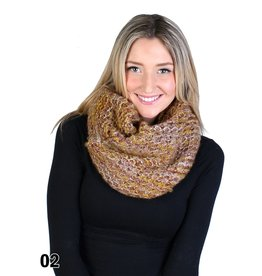 GRAND INT'L TRI COLOUR KNITTED LOOP SCARF