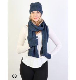 GRAND INT'L CONFETTI SCARF/HAT/GLOVE SET