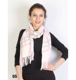 GRAND INT'L PLAID SOFT SCARF -PINK