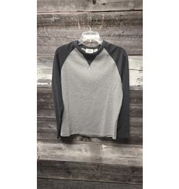 HEDGE MENS TWO-TONED L/S CREW NECK TOP