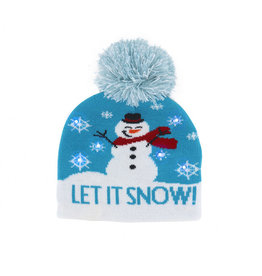 KIDS SNOWFLAKE LIGHT UP HAT