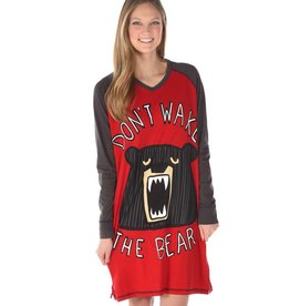 LAZY ONE WAKE THE BEAR NIGHT SHIRT