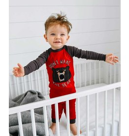 LAZY ONE WAKE THE BEAR INFANT UNION SUIT
