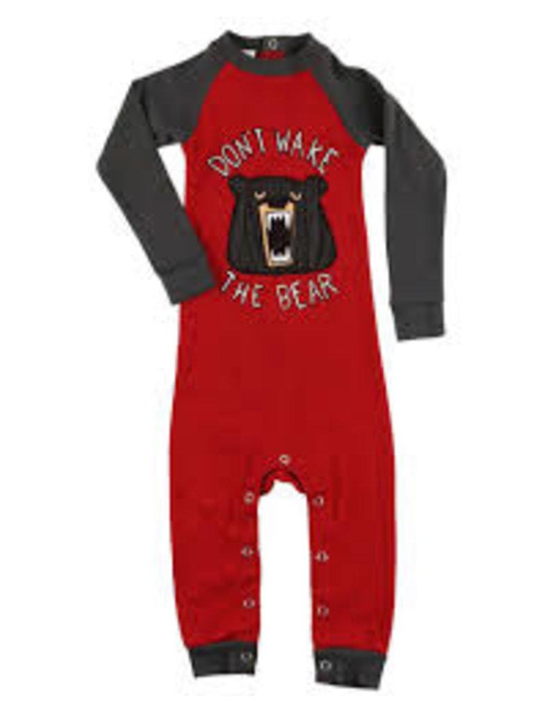 LAZY ONE WAKE THE BEAR INFANT UNION SUIT