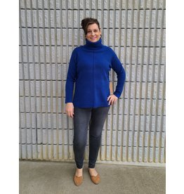 POINT ZERO BLUE TUNIC TURTLENECK  SWEATER