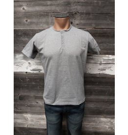 HEDGE MENS SHORT SLEEVE HENLEY TOP