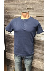 HEDGE MENS SHORT SLEEVE RIBBED HENLEY TOP