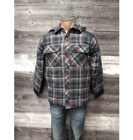 KG MENS PLAID HOODED TOP