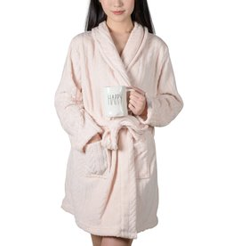 COFFEE SHOPPE CABLE PLUSH FLEECE ROBE