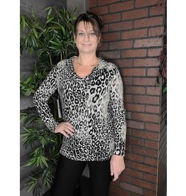 TRIBAL COWL NECK LEOPARD TUNIC