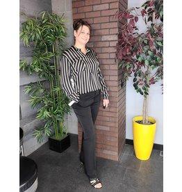 TRIBAL HIGH RISE SLIM BOOT PANT- BLACK