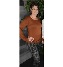 TRIBAL PULL ON ANIMAL PRINT LEGGING - COFFEE