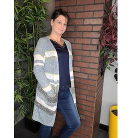 TRIBAL LIGHT STRIPED CARDIGAN