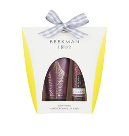 BEEKMAN 1802 HAND CREAM AND LIP BALM SET