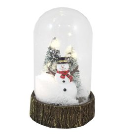 LED GLASS DOME -SNOWMAN