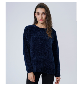 EN/KAY CHENILLE NAVY SWEATER
