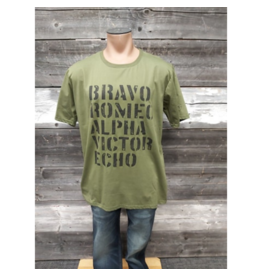 AUTHENTIC BRAVE APPAREL ARMY GREEN BRAVO T-SHIRT