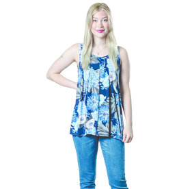 PAPA SWING SLVLESS NAVY FLORAL TOP