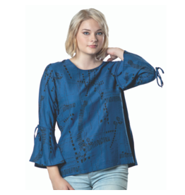 PAPA BELL SLV BLUE TOP