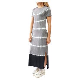 RD STYLE BLACK TIE DYE T-SHIRT DRESS