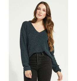 GENTLE FAWN TUCKER HEATHER SPRUCE SWEATER