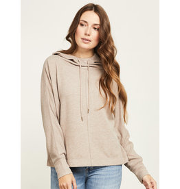 GENTLE FAWN ARLO COWL NECK HOODED SWEATER